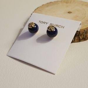 Tory Burch blue stone Evie earrings